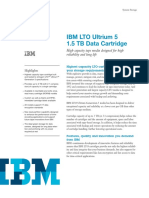 IBM LTO5 Cartridge Datasheet