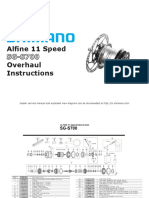 Shimano Alfine 11 SG-S700 Overhaul Instructions