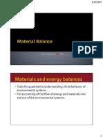 Ch3 Material Balance