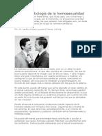 Bioética y Etiología de la homosexualidad