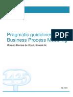 Pragmatic guidelines BPM