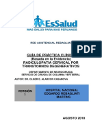 Guía de Práctica Clínica Radiculopatia Cervical Por Transtornos Degenerativos Hnerm