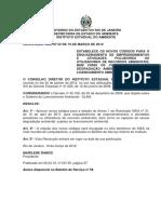 RESOLUÇÃO INEA Nº 52 - Estabelece novos códigos para enquadramento de empreendimentos e atividades poluidoras-sem anexo.pdf