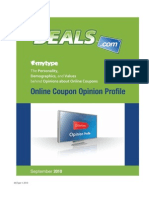 Online Coupon Opinion Profile by MyType