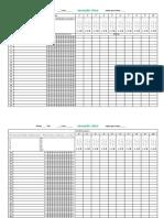 Planilha Acomp. Escolar por turma com__Nomes + Registro de participação + Atividades + Notas_Bimestral T2
