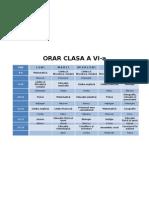 ORAR CLASA A VI