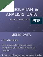 Pengolahan Analisis Data