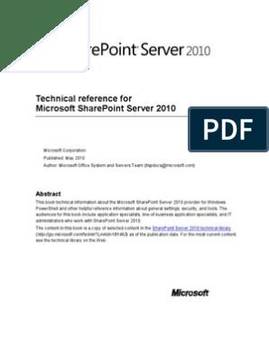 Share Pt Serv Tech Ref | Share Point | Command Line Interface