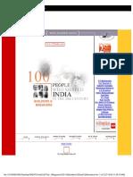 India Today 100 People Bu