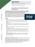 diferentes protocolos de exercício físico para pacientes com doença de Parkinson