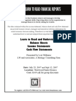 Understanding Financial Statements_Upcoming Seminar
