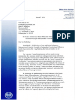 Lancaster County commissioners' response to DA's cease and desist letter