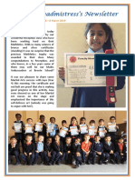 Newsletter No 68 - 8th March 2019