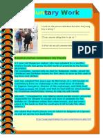 Voluntary Work Worksheet