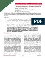 Molecular regulation of ERK5 in development of diabetic retinopathy