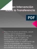 Lacan Intervención Sobre La Transferencia