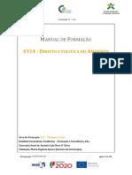 Manual de Formação Direito e Politica Do Ambiente