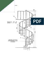Plano de Una Escalera de Caracol