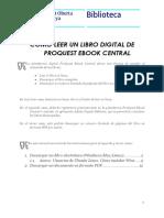 Como Se Lee Un Libro Digital de ProQuest eBook Central