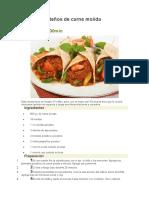 Burritos Norteños de Carne Molida