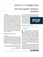 Relaciones entre historiografía y literatura