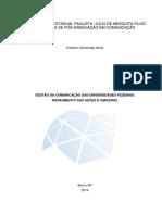 Gestão Da Comunicacao Das Universidades Federais - Mapeamento Das Acoes e Omissoes