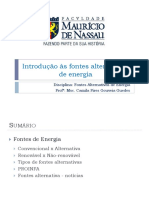 Aula 2 - Introdução as Fontes Alternativas de Energia