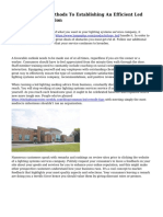 Guidelines And Methods To Establishing An Efficient Led Lighting Organisation