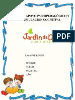 Caratula Sala Pre Kinder Estimulación Cognitiva