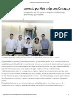 02-02-2019 Guerrero Firma Convenio Por 650 Mdp Con Conagua.