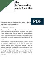 03-02-2019 Acapulco recibe nuevamente la Convención Bancaria, anuncia Astudillo.