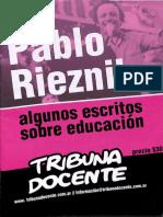 Rieznik. Escritos Sobre Educación