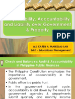 Accountability and Liability on Government Property