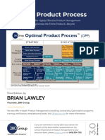 Optimal Product Process
