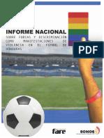 Informe Nacional sobre Fobias y Discriminación como Manifestaciones de Violencia en el Fútbol de Honduras___SOMOS CDC Gestión del Conocimiento
