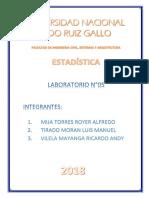 Ejercicios de estadística UNPRG