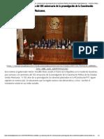 05-02-2019 Héctor Astudillo a la ceremonia del 102 aniversario de la promulgación de la Constitución Política de los Estados Unidos Mexicanos.