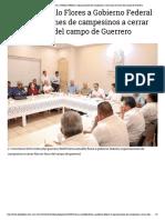 06-02-2019 Llama Astudillo Flores a Gobierno Federal y Organizaciones de Campesinos a Cerrar Filas en Favor Del Campo de Guerrero.