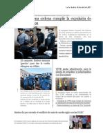 Los Nueve Bolivianos Detenidos en Chile Durante Su Audiencia El Pasado 17 de Junio