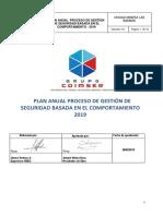 Plan Anual Proceso de Gestión de Seguridad Basada en El Comportamiento 2019 Final