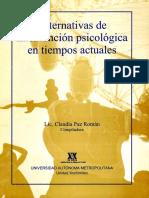 Alternativas de intervención psicológica en tiempos actuales - Claudia Paz Román (Comp).pdf