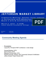 NYC DDC Presentation to Manhattan CB 2 Arts & Institutions Committee On March 5, 2019