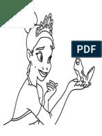 Dibujo La Princesa y El Sapo