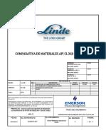 Comparativa de Materiales API