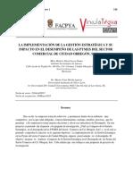 246-269 La Implementacion de La Gestion Estrategica y Su Impacto en El Desempeno de Las Pymes Del Sector Comercial de Ciudad Obregon, Son