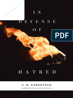 In Defense of Hatred - C.B. Robertson