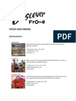 Food and Drink Listings1