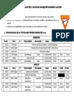 Cronograma de Conquis 2019 Febr Marzo