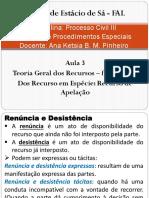 Direito Processual Civil III - Aula 3