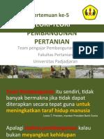 Pertemuan 5_teori-Teori Pembangunan Pertanian